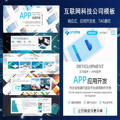 响应式互联网技术APP软件应用开发类织梦模板