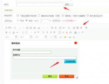 织梦编辑器附件和自定义字段附件类型上传文件后不能选择原因