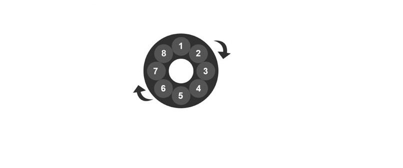 jQuery+CSS3实现的圆形旋转导航菜单支持鼠标拖动滑